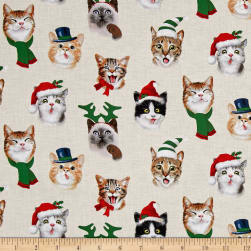 Christmas Selfies Cats Cream