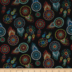 Tucson Beaded Dream Catchers Black Fabric