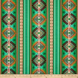 Tucson Stripe Green Fabric