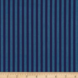 Riley Blake Lost & Found America Stripe Navy