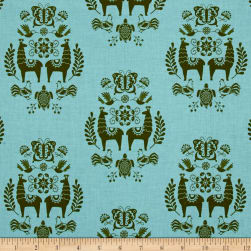 Riley Blake Juxta Posey Medallion Aqua Fabric