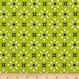 Riley Blake Juxta Posey Star Green Fabric