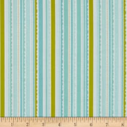 Riley Blake Happy Day Stripes Aqua Fabric