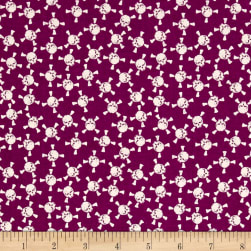 Riley Blake EEK BOO Shriek Skull Purple Fabric