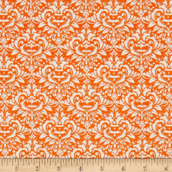 Riley Blake EEK BOO Shriek Damask Orange