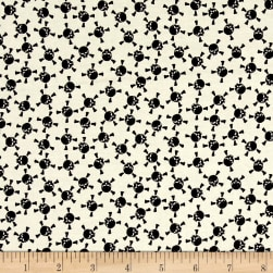 Riley Blake EEK BOO Shriek Skull Cream Fabric