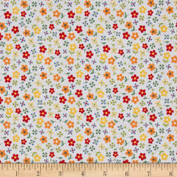 Penny Rose Gingham Girls Calico White Fabric