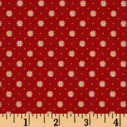 Penny Rose Gingham Girls Flower Red Fabric