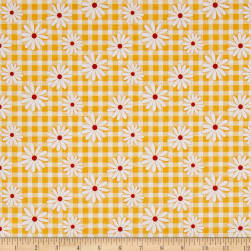 Penny Rose Gingham Girls Daisy Yellow