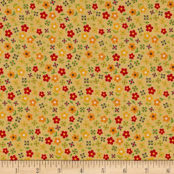 Penny Rose Gingham Girls Calico Yellow Fabric