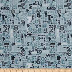 Riley Blake Game Day Numbers Aqua Fabric