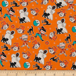 Penny Rose Trick or Treat Toss Orange Fabric