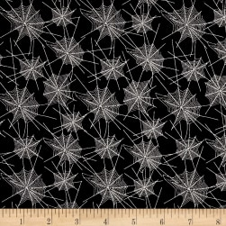 Penny Rose Trick or Treat Webs Black Fabric
