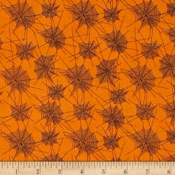 Penny Rose Trick or Treat Webs Orange Fabric