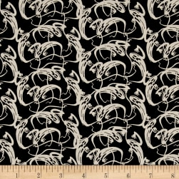 Penny Rose Trick or Treat Ghosts Black Fabric