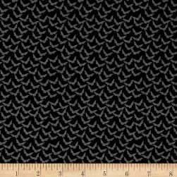 Penny Rose Trick or Treat Bats Black Fabric