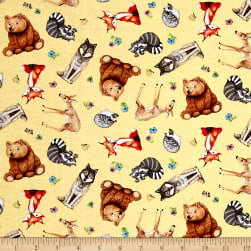 Magic Forest Yellow Fabric