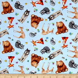 Magic Forest Blue Fabric