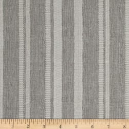 Bee Happy Stripe Gray Fabric