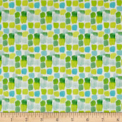 Happy Meadows Digital Print Dots White Fabric