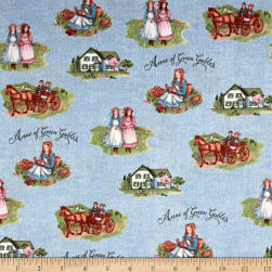 Anne of Green Gables Main Blue Fabric