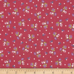 Anne of Green Gables Blossoms Raspberry Fabric
