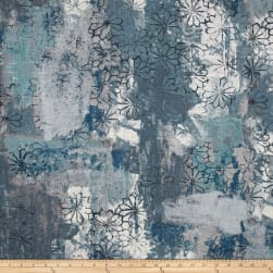 Covington Tahara Linen Smokey Blue Fabric