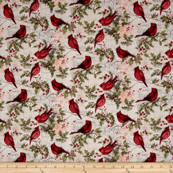 Susan Winget Christmas Cardinal Holly Multi