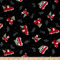 Susan Winget Santa Making Spirits Bright Multi Fabric