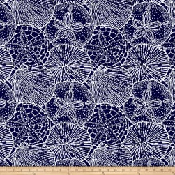 P/Kaufmann Outdoor Jacquard Sea Shells Navy Olefin Fabric