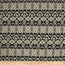 Rayon Challis Tribal Black/Cream