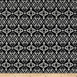 ITY Brushed Jersey Knit Aztec Black/White Fabric