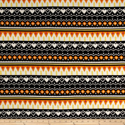 ITY Brushed Stretch Jersey Knit Aztec Yellow/Orange/Black Fabric