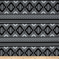ITY Jersey Knit Moroccan  Black/White Fabric