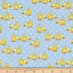 Comfy Flannel Ducks Blue Fabric