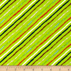 Comfy Flannel Diagonal Stripe Green/Multi