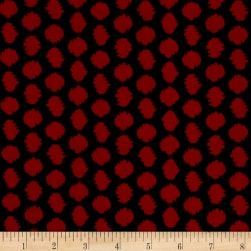 ITY Stretch Knit Abstract Black/Red Fabric