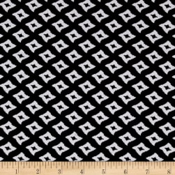 ITY Stretch Knit Abstract Black/White Fabric