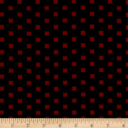 ITY Stretch Knit Abstract Squares Black/Red Fabric