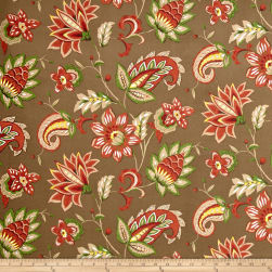 Terrasol Outdoor Marisol Coral & Chocolate Fabric