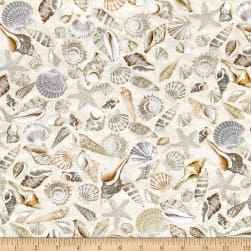 Timeless Treasures Beach Haven Shells Shells Fabric