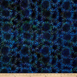 Bali Handpaints Batiks Sunflower Lapis Fabric
