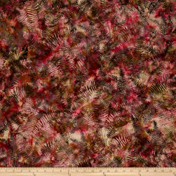 Bali Handpaints Batiks Fern Carnation Fabric