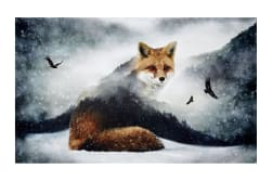 "Call Of The Wild Digital 27.5"" Panel Foxes"