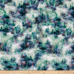 Call Of The Wild Digital Forest Viridian Fabric