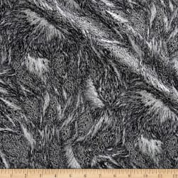 Nocturne Metallic Fur Dark Gray/Silver Fabric