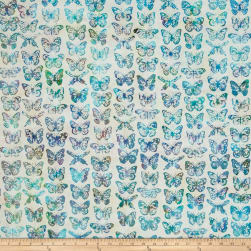 Bali Handpaints Batiks Butterflies Prism Fabric