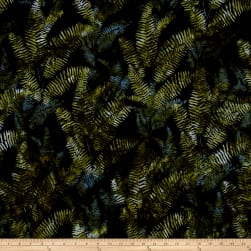 Bali Handpaints Batiks Fern Black/Jade Fabric