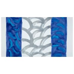 Bali Brushstroke Batiks Scallop Double Border Hyacinth Fabric