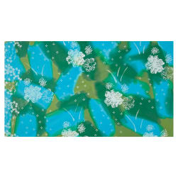 Bali Brushstroke Batiks Water Floral Meadow Fabric
